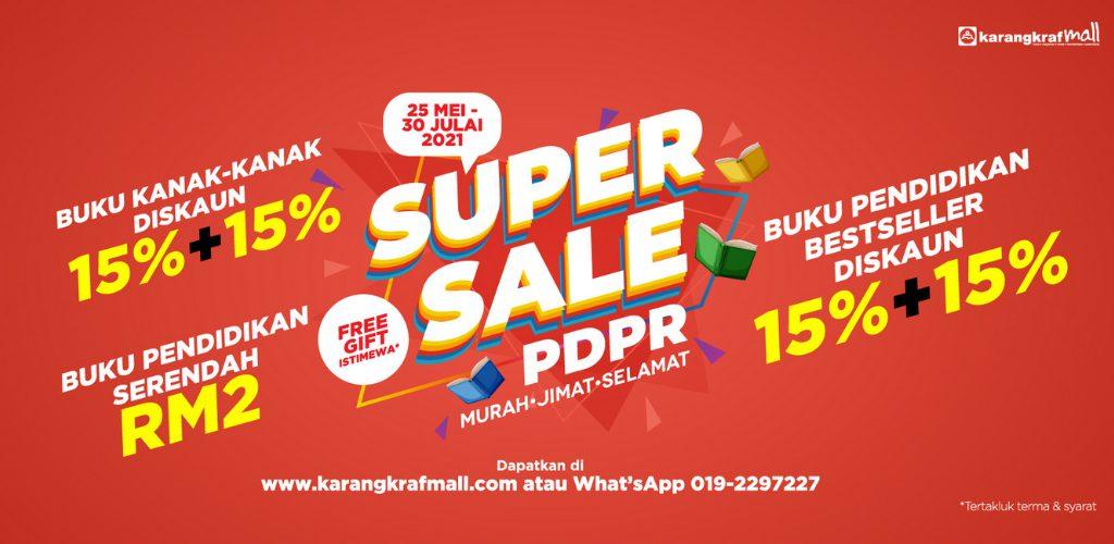 Jimat dan berbaloi, Super Sale PdPR di Karangkraf Mall tawar buku serendah RM2
