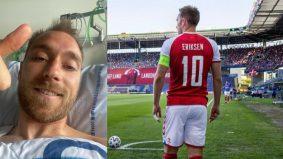 Jantung terhenti seketika, Chrisen Eriksen stabil. Sudah muat naik gambar di Instagram