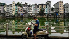 Trend tube house di Hanoi Vietnam, kediaman yang tinggi dan memanjang
