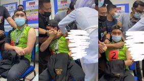 [VIDEO] Lelaki menjerit takut jarum, terpaksa empat orang pegang