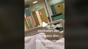 """[VIDEO] """"Banyak kali kena kat bilik mayat""""- netizen kongsi cerita, lelaki rakam pintu hospital buka tutup sendiri"""