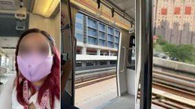[VIDEO] Pintu tren LRT terbuka ketika bergerak laju, penumpang cemas
