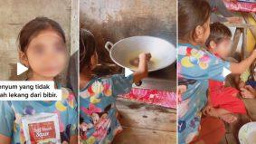 [VIDEO] Kanak-kanak perempuan tak kekok memasak, jaga adik selepas ibu meninggal dunia