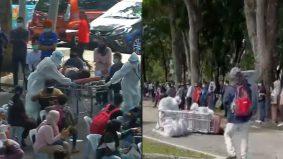 [VIDEO] Frontliner terjatuh terlalu penat, tak larat bangun semasa tolak stretcher