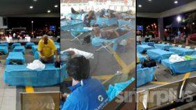 [VIDEO] Bukan di India, tapi HTAR Klang. Pesakit Covid-19 mula diletakkan di luar jabatan kecemasan