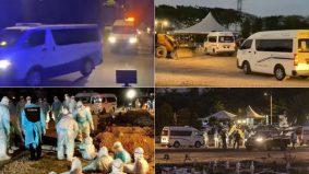 Van berderetan bawa 47 jenazah, situasi tanah perkuburan menyedihkan buat ramai sebak