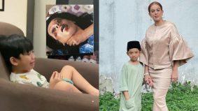 'Itu mummy berlakon je….' – Didie Alias kongsi momen lucu anak meraung lihat lakonannya