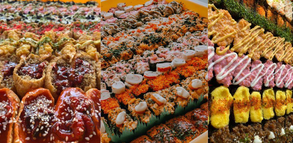 tiga beradik jual sushi tepi jalani
