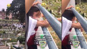 "[VIDEO]""Ayah, ayah, ayah...""- laungan budak 8 tahun luluh hati warganet"