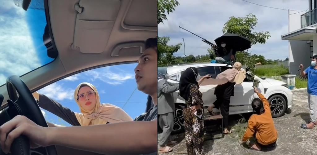 [VIDEO]Kreatif! Video isteri terbang masuk kereta dapat pujian, 7 juta tontonan