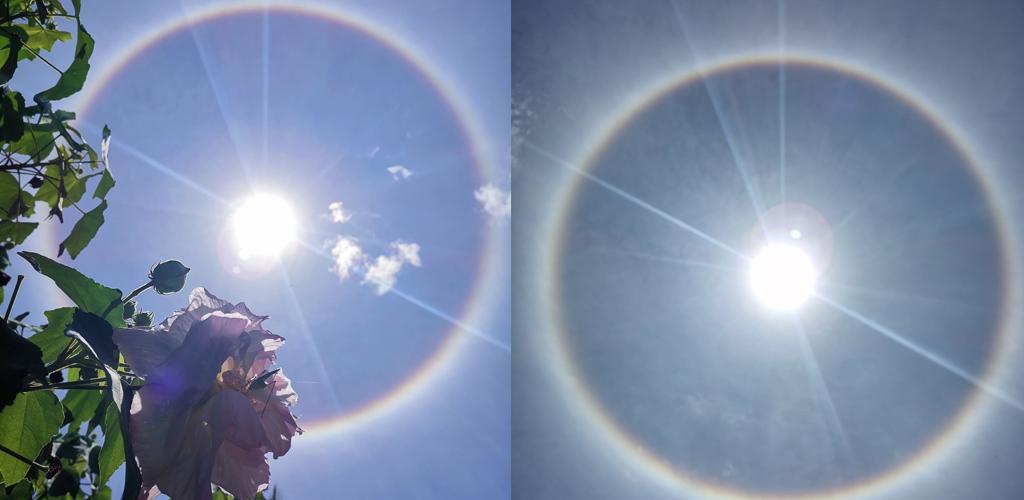 Subhanallah, indahnya! 10 foto fenomena Halo Matahari yang buat ramai terpukau