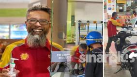 'Pakcik Shell' turun padang, bantu isi minyak pelanggan