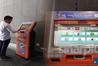 Tak susah dah nak renew roadtax, guna jer kiosk pertama di Malaysia