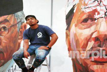 Covid-19: Anak Terengganu lukis mural frontliner negara tanda terima kasih