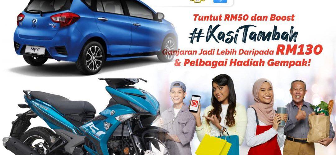 Tebus e-Penjana RM50 di Boost, berpeluang menang Perodua Myvi dan motosikal Yamaha!
