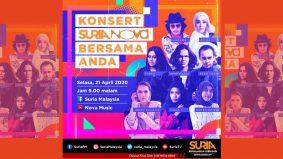 Barisan artis popular di Konsert Suria Nova Bersama Anda