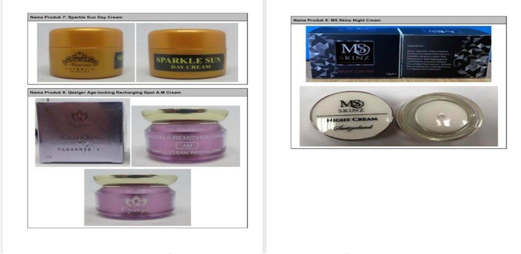 AWAS! Dr Noor Hisham sah kan 9 produk kosmetik mengandungi kandungan terlarang dan bahaya!