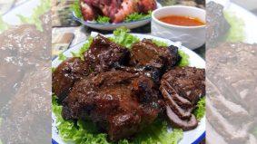 Daging bakar acah-acah 'Daging HariRimau Nanges'