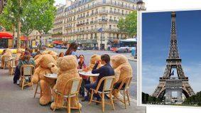 Patung beruang comel jadi penanda 'larangan duduk' untuk social distancing
