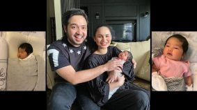Dedah wajah anak, Izara Aishah dan suami pilih nama Irisa Alaia