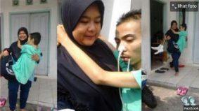 Foto kendong suami sakit buat warganet tersentuh, tapi wanita ini kesal bila...