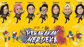 Perarakan animasi virtual sempena Merdeka di Suria FM