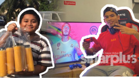 Adik berumur 10 tahun jual jus mangga nak beli PS4, terkejut Safawi mahu hadiahkan