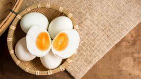 Resipi telur masin kuning homemade, tanpa telur putih