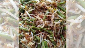 Resipi urap sayur taugeh dan kacang panjang, 'salad' Jawa unik