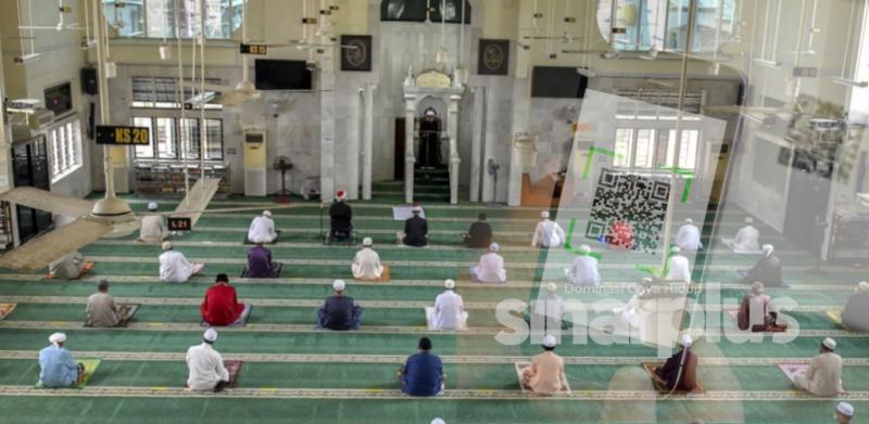 Daftar kod QR untuk solat Jumaat di Masjid dengan konsep 'siapa dulu'