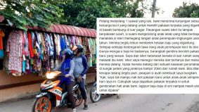 Sebuah kisah Syawal yang menyentuh perasaan, pasangan suami isteri kendong anak tak berbaju sanggup berjalan jauh 20km demi bahagiakan anak…