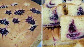 Resipi kek butter cheese blueberry mudah, lemak berkrim