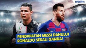 Pendapatan Messi mendahului Ronaldo sekali ganda!