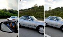 Rakam Merc klasik di jalanan, lelaki terkejut kereta dipandu mantan MB Negeri Sembilan