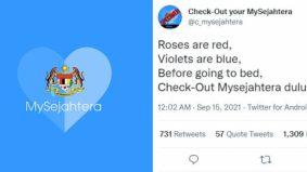 Ramai lupa 'check out' MySejahtera, hingga wujud Twitter satira, penuh ciapan lucu