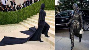 Kim Kardashian sekali lagi curi perhatian, tampil dengan fesyen pelik 'tanpa wajah'
