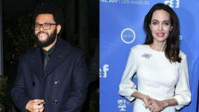 Teka-teki hubungan Angelina Jolie, The Weeknd