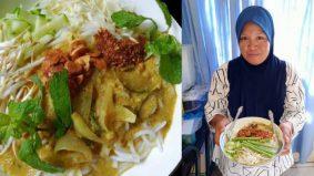 Tak kedekut ramuan, bubuh ikan kembung, ramuan segar buatkan Laksa Lemak Thai Cik Hawa laku keras