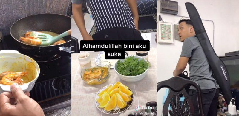 [VIDEO] Masak untuk isteri rupanya ada 'agenda', pemuda kongsi tip baik punya