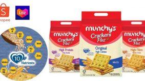 Sekeping biskut kraker Munchy's, anda boleh menikmati 10 vitamin dan mineral. Ini fakta bukan auta