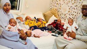 Perut ibu 30kg ketika hamil, kembar 9 pecah rekod dunia bakal pulang ke Mali