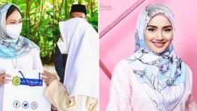 Fazura berbesar hati Permaisuri Selangor pakai tudung jenamanya RM27, warganet mula cari buat koleksi